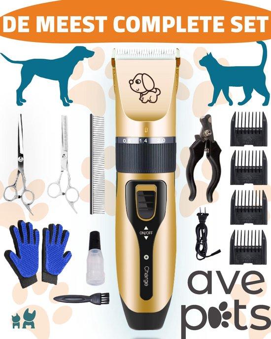 AVE Pets® Complete hondentondeuse set - Draadloos tondeuse - Scheerapparaat voor je hond of kat - Huisdier trimmer - Professionele dierentondeuse - Dieren verzorging