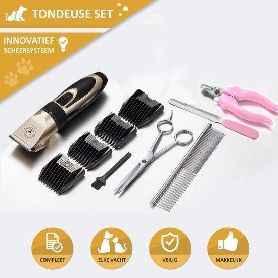PetSpecials™ Professionele Tondeuse Set Hond - Incl. Schaar, Kam, Accessoires en Opberg Etui