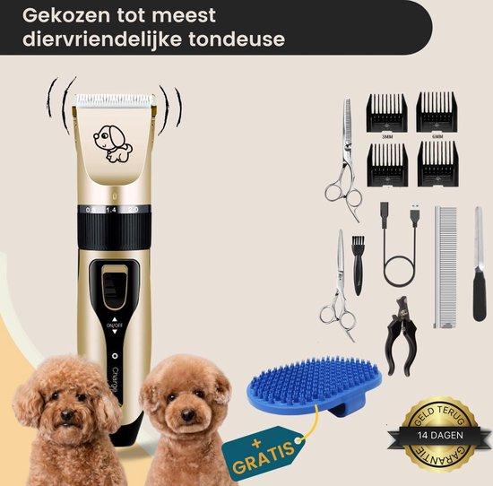 Professionele Dieren Tondeuse - Hondentondeuse - Huisdierentrimmer - Voor Hond & Kat - 4 Opzetkammen - Oplaadbaar - Incl. Gratis Hondenborstel