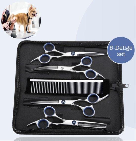 5-Delige Huisdier Knipset met Etui - Trimmen Hond