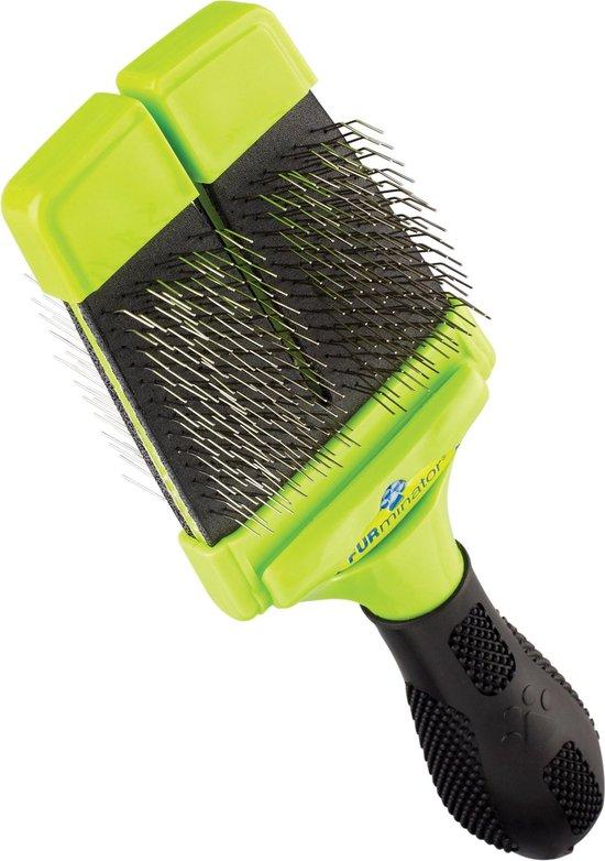 Furminator Hond Slicker Brush - Hondenborstel - 2 zijdig Soft Hard
